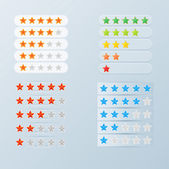 Rating stars set — Stock Vector