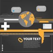 High-tech background — Stock Vector