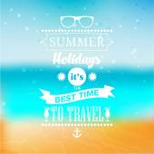 Summer holidays message for your design — Stock Vector