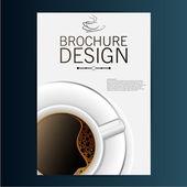 дизайн брошюры. кофе — Cтоковый вектор