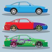 Race cars for drift. — Stock Vector