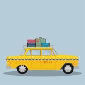 Retro Taxi cab — Stock Vector
