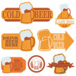Cold beer labels — Stock Vector #59261693