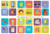 Different icon set — Stock Vector