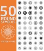 Round symbols set. — Stock Vector