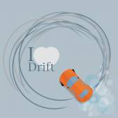 View of a drifting car — Stockvektor