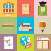 Modern school flat design — Stock Vector