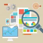 Web analytics information and development website statistic — Stock Vector