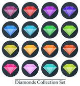 Diamond in flat design — Cтоковый вектор