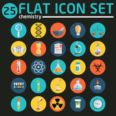 Science flat icons — Stock Vector