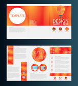 Brochure Flyer template — Stock Vector