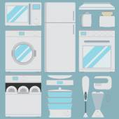 Flat icons for kitchen appliances — Stock Vector