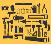 Working tools icons — Stock Vector