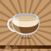 Koffiekopje met op een brown — Stockvector