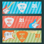 Rock festival design banners — Stock Vector #66057595