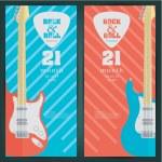 Rock festival design banners — Stock Vector #66057639
