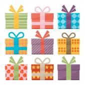 Icons of gift boxes — Stockvektor