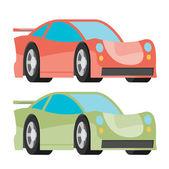 Fast racing automobiles — Stock Vector