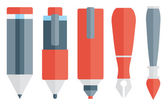 描画と手書きツール — ストックベクタ