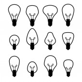 Electric bulb set — Stock Vector