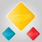 Icônes de dérive de la voiture de course — Vecteur