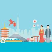 Japan background design — Stock Vector