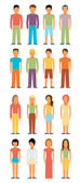 Man and woman icons — Stock Vector