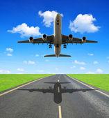 Passenger airplane — Стоковое фото