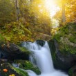 Autumnal landscape with waterfall — Stock Photo #57632209