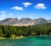 Carezza lake — Stock Photo