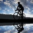 Cyclist riding a road bike — Stock Photo #62395635