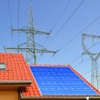 Solar panel on the roof of the house — Stock Photo #69235037
