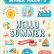 Summer Labels and Design Elements — Stock Vector #70970053