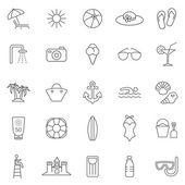 Beach  icons, set. — Stock Photo