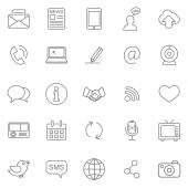 Communication icons, set — Stock Photo