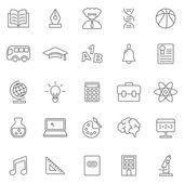 Education  icons, set — Stock Photo