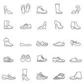 Shoes  icons, set. — Stock Photo