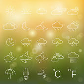 Weather  icons, set. — Stock Photo