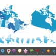 Canada - highly detailed map. — Stock Vector #76379513