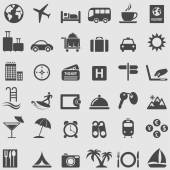 Travel and Tourism icons set. — Stock Vector