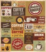 Collection of Coffee Design Elements. — Stock Vector
