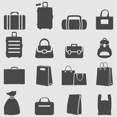 Bag icons set. — Stock Vector
