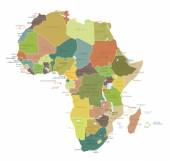 Africa - highly detailed map. — Stock Vector