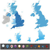 United Kingdom - highly detailed map. — Stock Vector