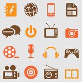 Мультимедийные иконки набор — Cтоковый вектор