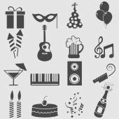Party icons set. — Stock Vector