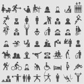 People icons set. — Stock Vector