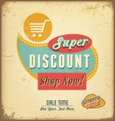 Vintage discount label — Stock Vector