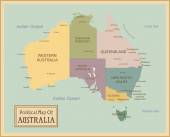 Australia-highly detailed map — Stock Vector