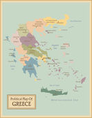 Greece -highly detailed map. — Stock Vector